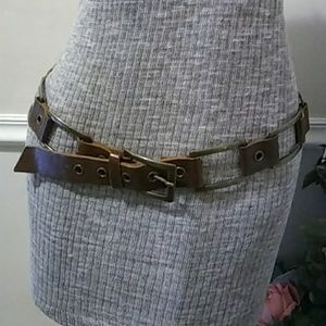 Banana Republic Leather and Brass Belt